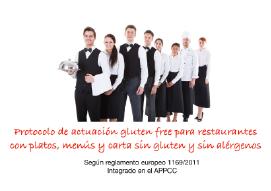 El protocolo de actuación gluten free para restaurantes