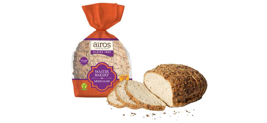 AIROS presenta su nuevo pan sin gluten Master Bakery Multigrain