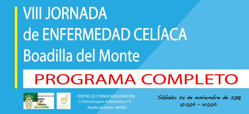 Programa completo VIII Jornada de Enfermedad Celíaca de Boadilla del Monte