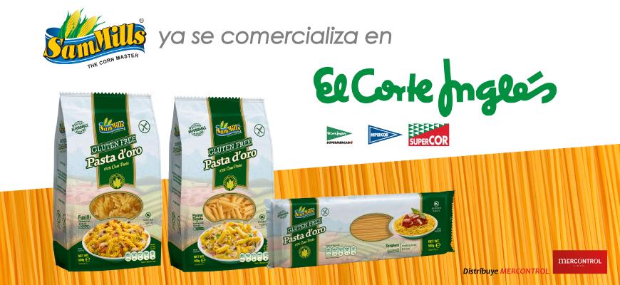 El Corte Inglés comercializa Pasta D'Oro