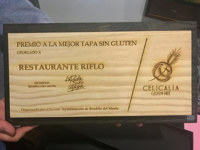 Placa de Celicalia primer premio